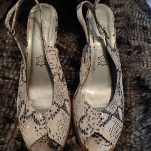 Fredericks of Hollywood snakeskin heels